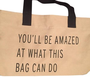TOMS Tote in Tan And Black