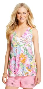 Lilly Pulitzer Top Pink, White, Blue, Orange, Green, Yellow