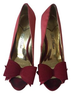 Ted Baker Satin Chic Open Toe Peep Toe Pumps