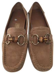 Gucci Suede Bamboo Loafers Brown Flats