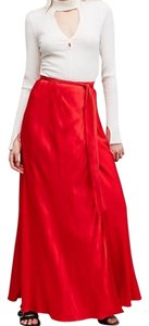 Free People Maxi Skirt Red