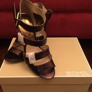 MICHAEL Michael Kors Leather Bronze Platforms