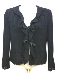 St. John Black Knit Jacket Blazer