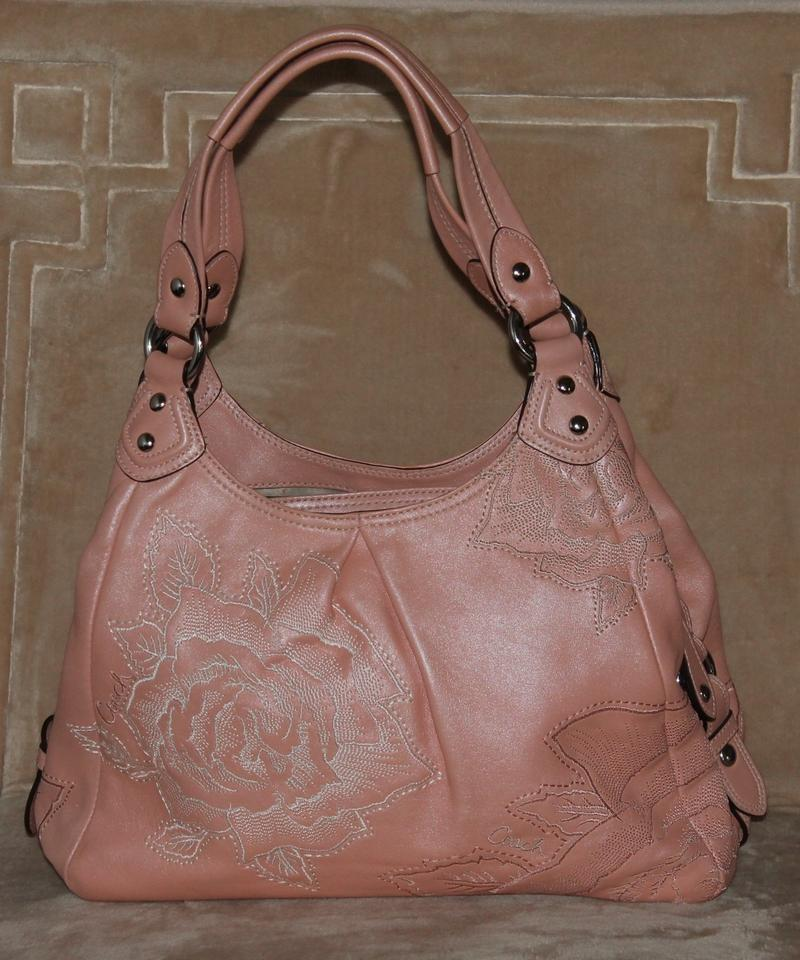 5f96c6863896 Coach Maggie 15026 Madison Floral Embroidered Antique Rose Handbag Leather Shoulder  Bag - Tradesy