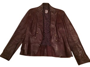 People Like Frank Brown Leather Jacket