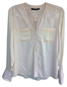 Jenni Kayne Silk Button Down Shirt Pink