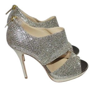 Jimmy Choo Private Silver and Gold Platforms