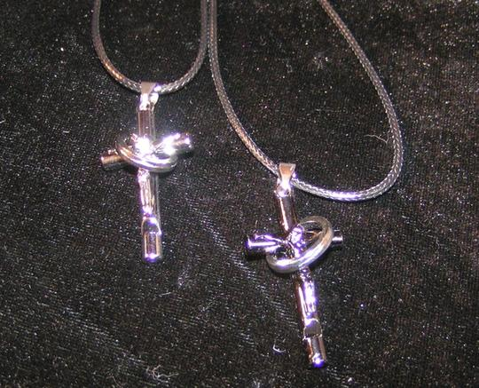 Silver/Black Bogo Free 2pc Cross Free Shipping Necklace