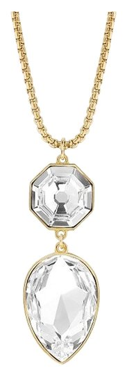 eklexic SOLARIS & PEAR SHAPED CRYSTAL PENDANT NECKLACE (Gold)