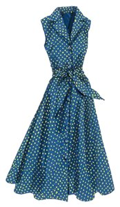 Green, blue, yellow Maxi Dress by J. Peterman