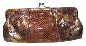 Wilsons Leather brown & gold Clutch