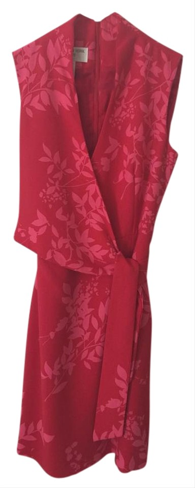 Night York Size Wrap Length Dress Knee Pink Jones Kimono Red Out New A1Px8
