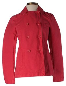 French Connection Double-breasted Lightweight Red Jacket