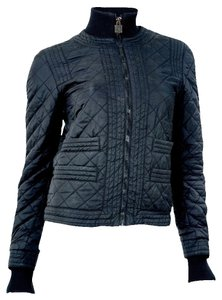 Chanel Microfiber Quilted Puff Black Jacket