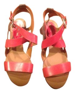 Enzo Angiolini Burnt Red & Brown Sandals