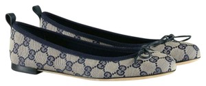 Gucci 283719 Ali Women's 7 Blue Flats