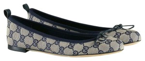Gucci 283719 Ali Women's 8 Blue Flats