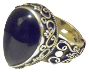 Artisan Crafted .925 Sterling Silver Black Onyx Ring Size 9