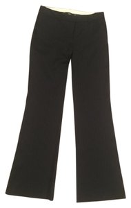 Theory Pinstripe Wide Leg Trousers Flare Pants Black pinstripe