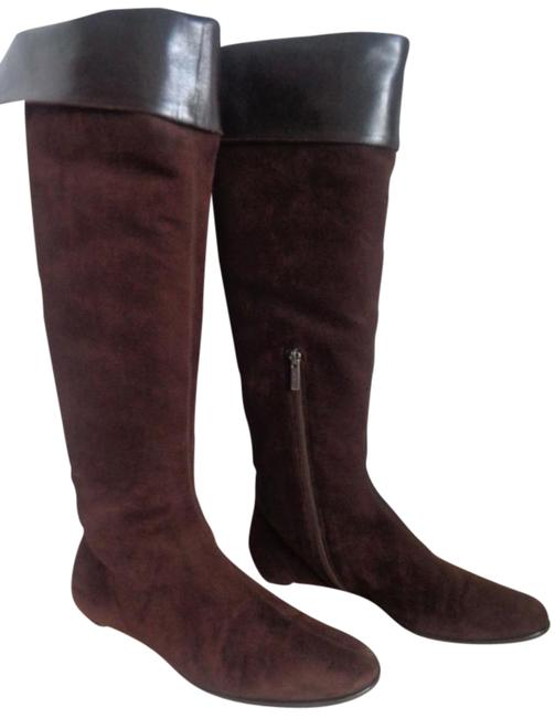 Item - Brown W Boutique 40 Tall Zip Suede W/Boot Bag Boots/Booties Size US 9 Regular (M, B)