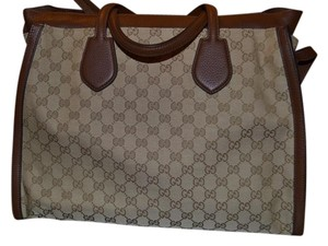 Gucci Handbag Leather Nwt Tote in Brown