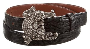 Barry Kieselstein-Cord Authentic-BARRY KIESELSTEIN-CORD sterlingSilver LIZARD Alligator belt