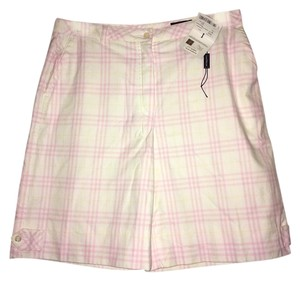 Burberry Shorts Pink and White Plaid