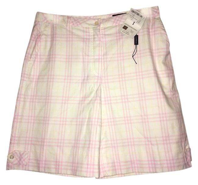 Item - Pink and White Plaid Golf Shorts Size 6 (S, 28)