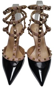 Valentino Black/Nude Kitten Heels Pumps