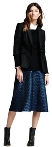 Banana Republic Blue Jacquard Church Christmas Skirt Blue, Black