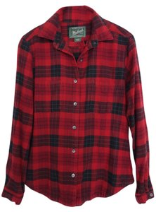 Woolrich Comfortable Flannel Button Down Shirt Classic Red