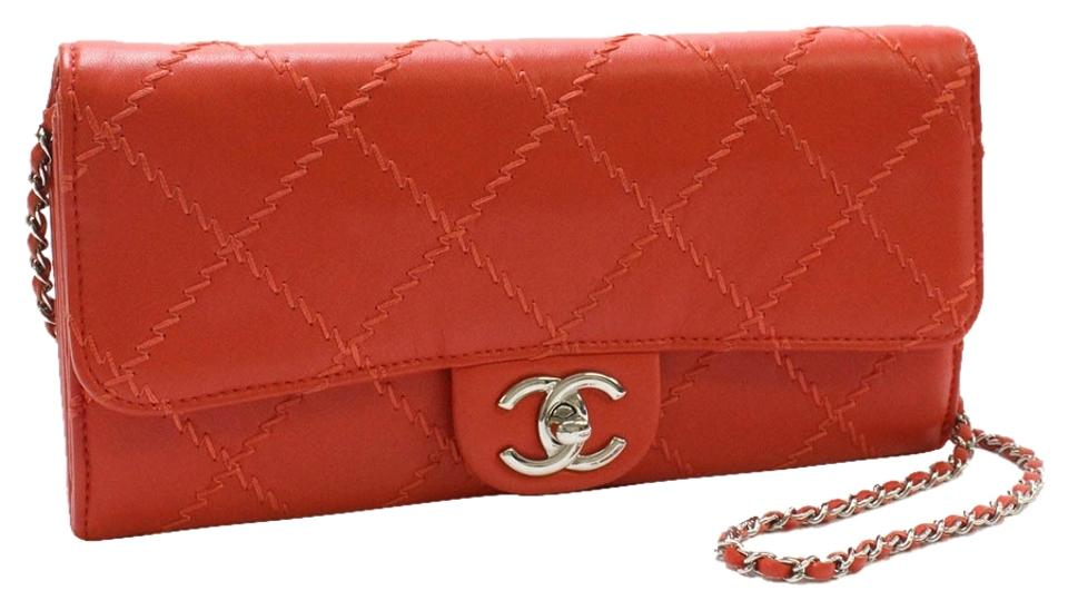 cddea00dee50 Chanel Wallet On A Chain Woc Quilted Lambskin Leather Silver Hardware Wild Ultimate  Stitch East West ...