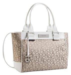 Calvin Klein Tote in natural with white