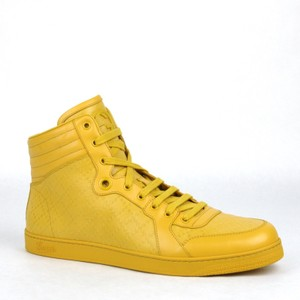 Gucci Yellow W Mens High-top W/Interlocking G Detail 12 G/Us 12.5 355645 7011 Shoes