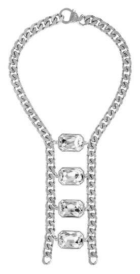 Preload https://item1.tradesy.com/images/eklexic-silver-crystal-octagon-ladder-necklace-1840835-0-0.jpg?width=440&height=440