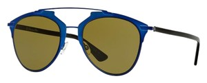 Dior Dior Reflected Metallic Blue Brown Lens Aviator Sunglasses