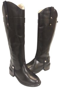 UGG Australia Two-in-one Ankle/mid-calf Tall Leather Upper Black Boots