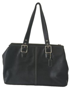 Coach Leather Buckle Shoulder Bag