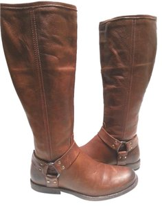 Frye Vintage Leather Whiskey Boots