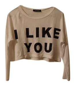 Choies Cropped Graphic Street Wear Sweater