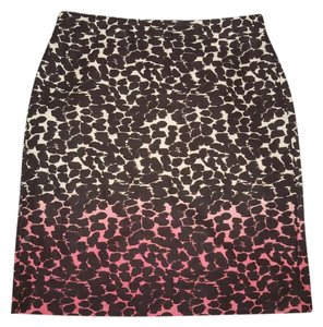 J.Crew Ombre Linen Animal Print Mini Skirt