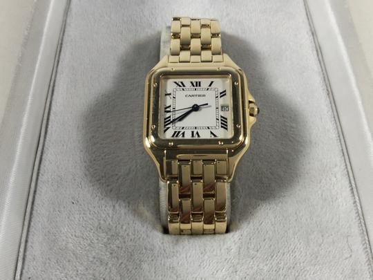 Cartier 18K YELLOW GOLD CARTIER PANTHER PANTHERE WATCH WITH BOX DATE QUARTZ