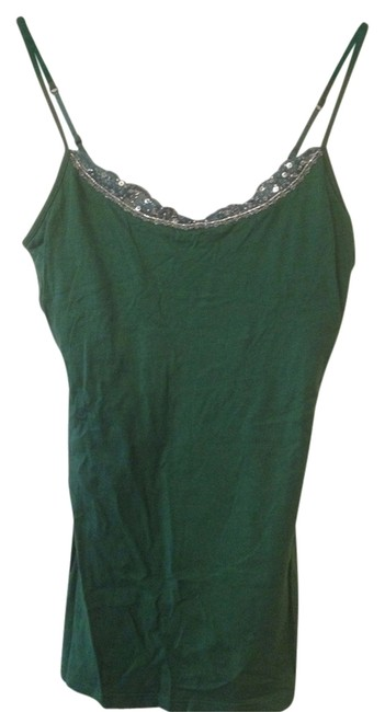 Other Spring St. Patrick's Top Green Sequins Lace