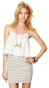 Free People Beach Pencil Skirt White/gray