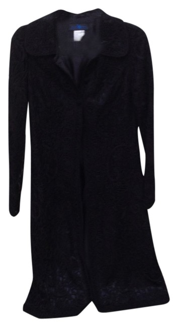 Sue Wong Duster Lace Evening Wear Formal Cocktail Black Blazer