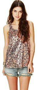 Free People Sequin Cami Night-out New-years Top Rose gold