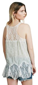 Free People Lace Top Mint/white