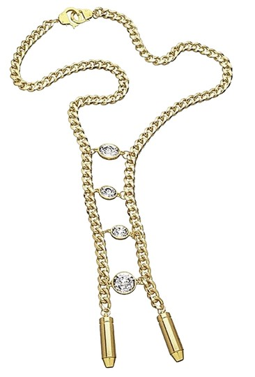 eklexic Crystal Ladder Necklace (Gold)