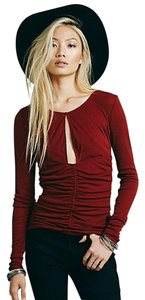 Free People Top Red Rust