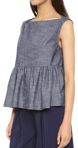 Rachel Comey Top Blue/pin stripped
